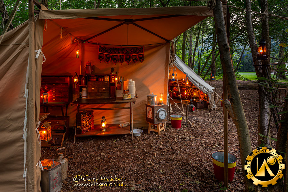 Steampunk Camping with the Steam Tent Co-operative. - © Gary Waidson - www.Steamtent.uk