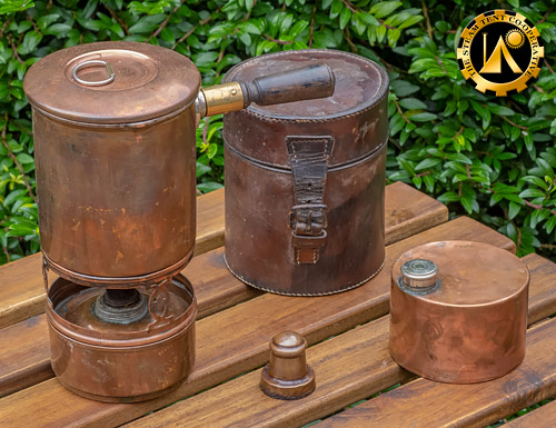 Barrret and Sons Spirit Stove.The Steam Tent Co-operative. © Gary Waidson - www.Steamtent.uk
