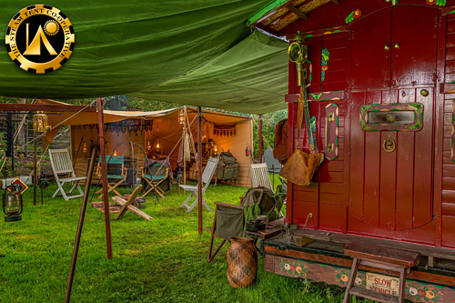 The Old School Bushcraft Group Camp. The Steam Tent Co-operative. © Gary Waidson - www.Steamtent.uk
