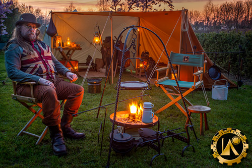 Retro Camp Organised by the Retro Outdoor Equipment group - The Steam Tent Co-operative. © Gary Waidson - www.Steamtent.uk