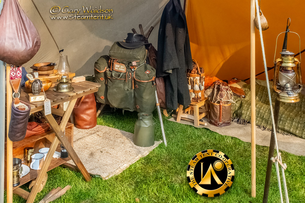 Retro Camp Organised by the Retro Outdoor Equipment group - The Steam Tent Co-operative.