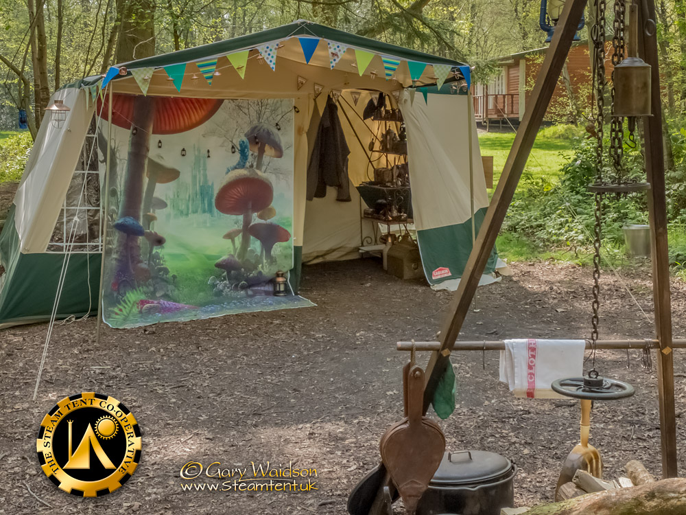 "The ""New"" Tent - The Easter Tea Party 2019 - The Steam Tent Co-operative. © Gary Waidson - www.Steamtent.uk"