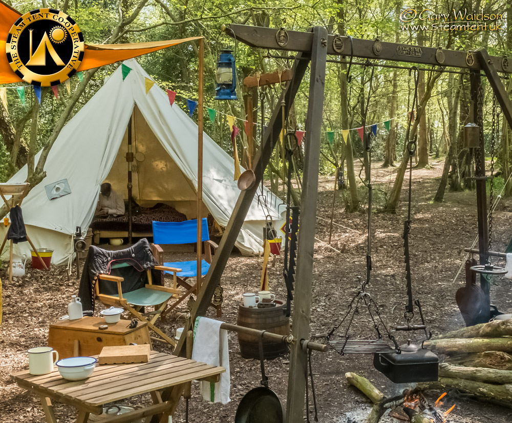 Our Bell Tent - The Easter Tea Party 2019 - The Steam Tent Co-operative. © Gary Waidson - www.Steamtent.uk