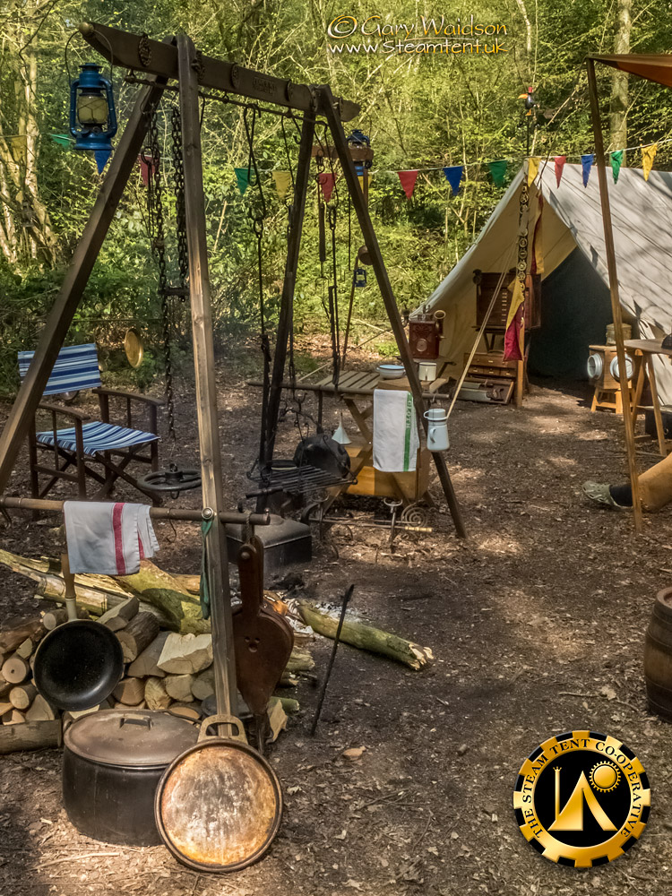 Utilitent and Fire Rig - The Easter Tea Party 2019 - The Steam Tent Co-operative. © Gary Waidson - www.Steamtent.uk