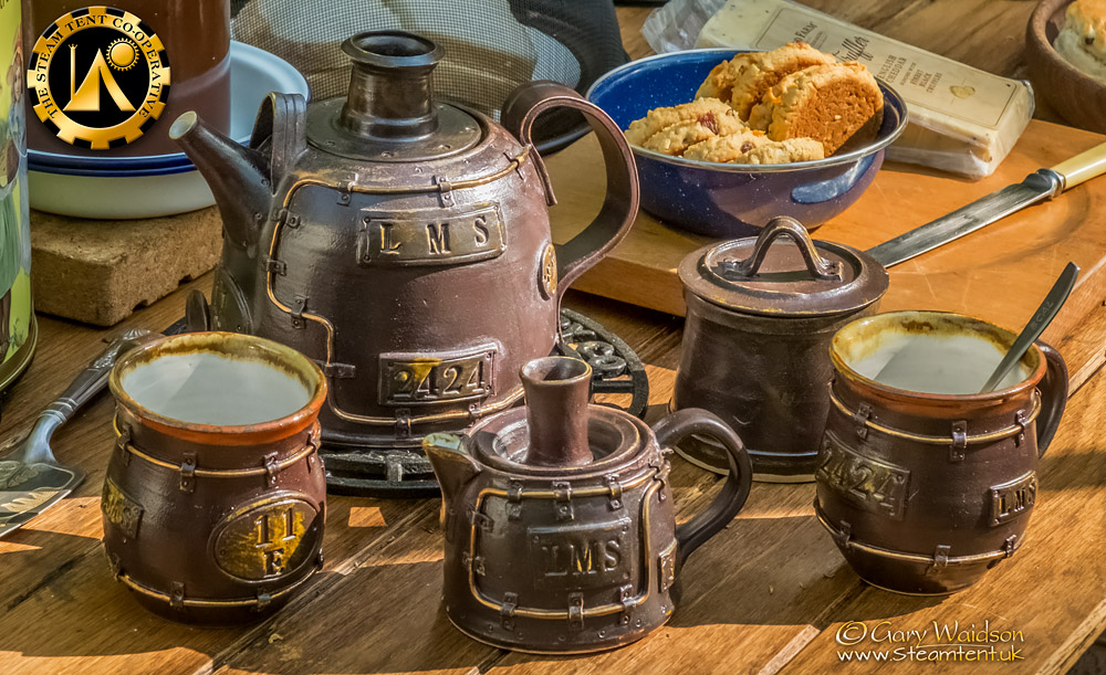 The LMS 2424 Tea  Set - The Easter Tea Party 2019 - The Steam Tent Co-operative. © Gary Waidson - www.Steamtent.uk