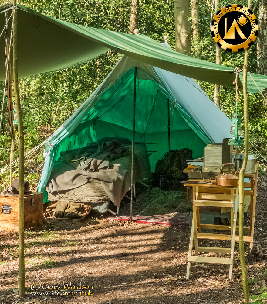 Steve's Tent - The Easter Tea Party 2019 - The Steam Tent Co-operative. © Gary Waidson - www.Steamtent.uk
