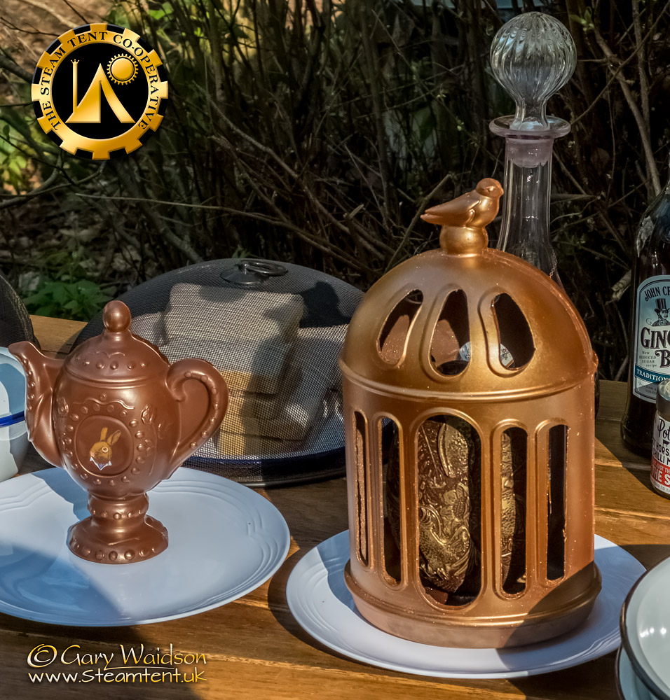The Chocolate Tea Pot - The Easter Tea Party 2019 - The Steam Tent Co-operative. © Gary Waidson - www.Steamtent.uk