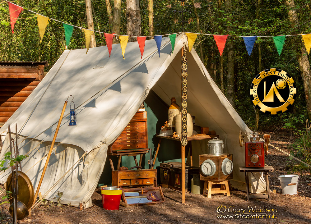 The Utilitent - The Easter Tea Party 2019 - The Steam Tent Co-operative. © Gary Waidson - www.Steamtent.uk