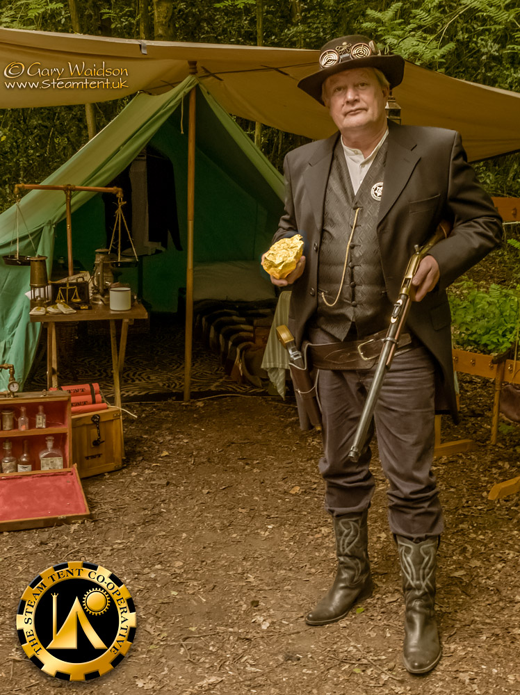 The Goldrush Camp 2019 - The Steam Tent Co-operative. © Gary Waidson - www.Steamtent.uk